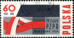POLAND / POLEN - 1964 Mi.1501 60Gr. Workers' Party Congress - VF Used (a)