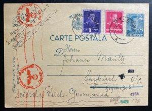 1941 Dragasani Romania Jewish Labor Interment Camp Postcard Cover to Germany