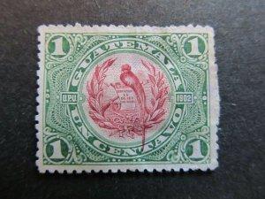A4P10F24 Guatemala 1902 1c used