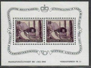 $Liechtenstein Sc#B18 M/NH/VF, S/S, Cv. $35