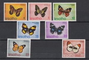 Lesotho, Scott cat. 140-146. Butterflies issue.
