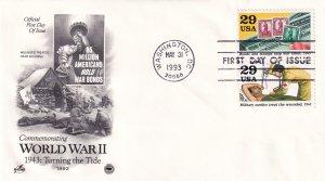 1993, Turning the Tide-WW2-1943, Art Craft/PCS, FDC (E11334)