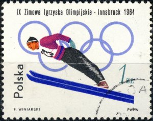 POLAND / POLEN - 1964 Mi.1461A 1Zl Winter Olympics (Ski Jumping) - VF Used (b)
