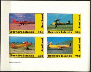 {B267} Bernera Scotland Aviation Airplanes (7) Sh.4 Imperf. MNH Cinderella !!