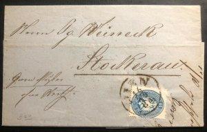 1863 Vienna Austrian Empire Vintage Letter Cover To Stockerau