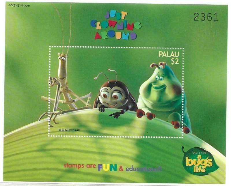 1998    PALAU  -  SG.   MS 1347A  -  A BUG'S LIFE - ANIMATED FILM -  MNH