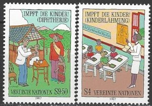 United Nations Vienna  76-7  MNH  Immunization