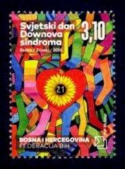 Bosnia & Herzegovina (Croat) Sc# 370 MNH World Down Syndrome Day