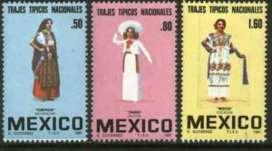 MEXICO 1231-1233 Regional costumes MNH