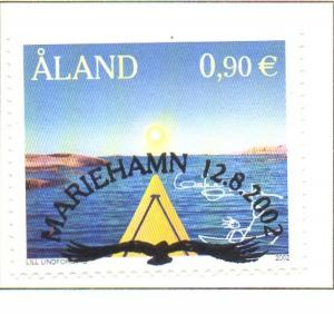 Aland Finland Sc 206 2002 My Aland by Lindfors stamp used