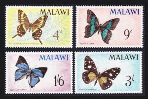 Malawi Butterflies 4v issue 1966 SG#247-250 SC#37-40