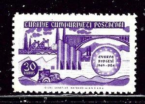 Turkey 1133 MNH 1954 Council of Europe    (ap3035)