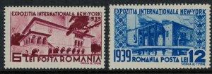 Romania #489-90*  CV $2.50