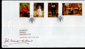 Jersey 212-216 Paintings U/A FDC