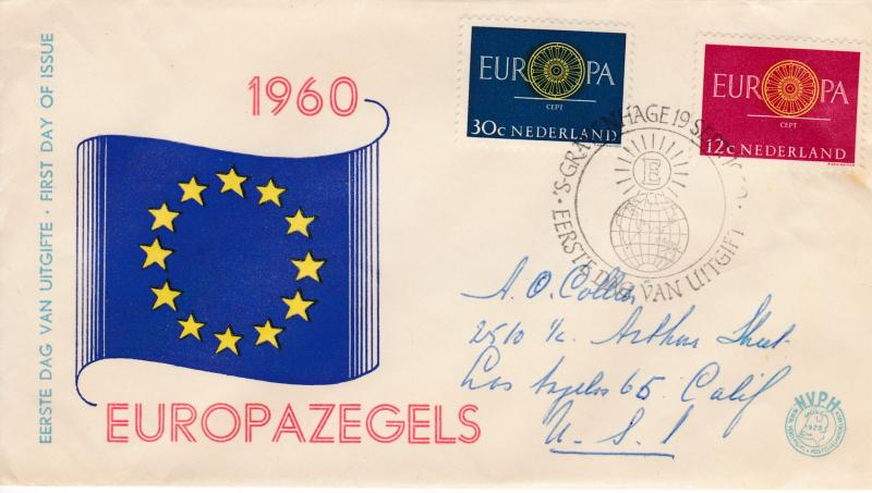 Netherlands 1960 Europa/CEPT First Day Cover Illustrated Cancel Den Hage