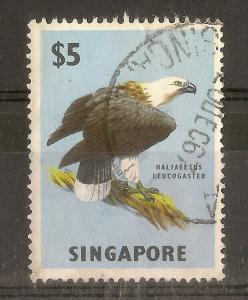 Singapore 1963 $5 Sea Eagle SG77 Fine Used