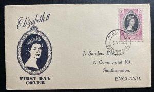 1953 Maseru Basutoland Coronation first day cover FDC Queen Elizabeth II QE2