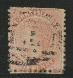 TURKS ISLANDS Scott 1 Queen Victoria 1867 CV$67.50