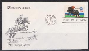 1794 Olympic Games Unaddressed Reader's Digest FDC