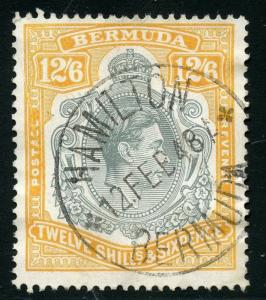 BERMUDA GEORGE VI SCOTT#125c USED CIRCULAR DATE CANCEL