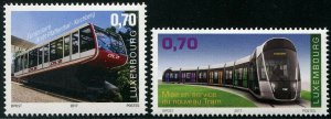 HERRICKSTAMP NEW ISSUES LUXEMBOURG Sc.# 1475-76 Tram & Funicular Railway