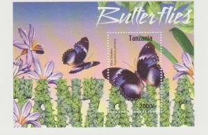 Tanzania 2004 butterflies insects s/s MNH