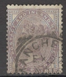 COLLECTION LOT OF # 1632 GREAT BRITAIN # 88 1881 14 DOTS