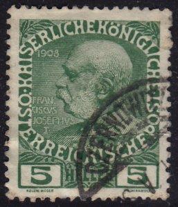 Austria - 1908 - Scott #113 - used - CZERNOWITZ pmk Bukovina Ukraine