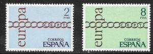 Spain (1971)  - Scott # 1675 - 1676,   MH