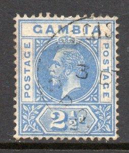 Gambia 1921 KGV 2½d wmk MSCA SG 112 used