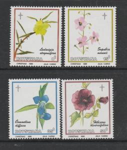 Botswana 1986 Christmas Flowers MM SG 604/7