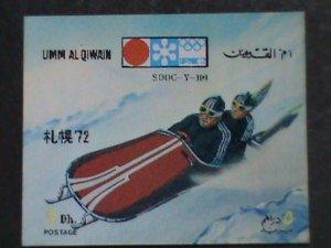UM-AL QIWAIN STAMP-1972- OLYMPIC GAME MUNICH'72 - AIRMAIL- 3-D STAMP MNH #4