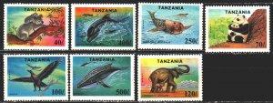 Tanzania. 1994. 1775-81. Fauna of the whole world, elephants, panda. MVLH.