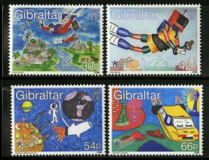 Gibraltar 2000, Stampin' the Future MNH  # 828-831