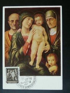 paintings Andrea Mantegna 1957 maximum card Germany DDR 86735