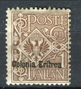 ITALY; ERITREA 1900s early Emmanuel issue fine used 1c. value