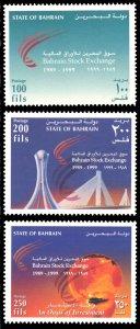 Bahrain 1999 Scott #527-529 Mint Never Hinged