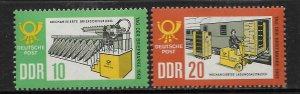 DDR, 678-679, MNH, LETTER SORTING MACHINE