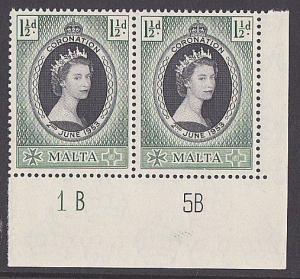 MALTA 1953 Coronation plate pair MNH........................................3287