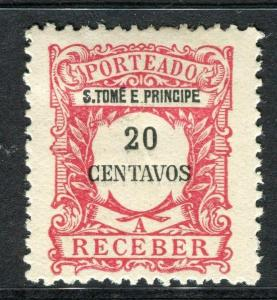 PORTUGUESE COLONIES ST.THOMAS E. PRINCE 1900s early P. Due Mint hinged 20c.