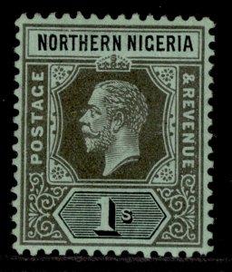 NORTHERN NIGERIA GV SG48, 1s black/green, M MINT.