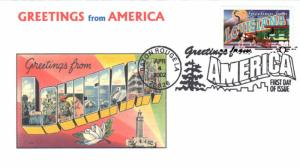 #3578 Greetings From Louisiana Ginsburg FDC