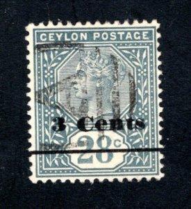 Ceylon #157,  VF, Used,    CV $5.75 ......  1290125