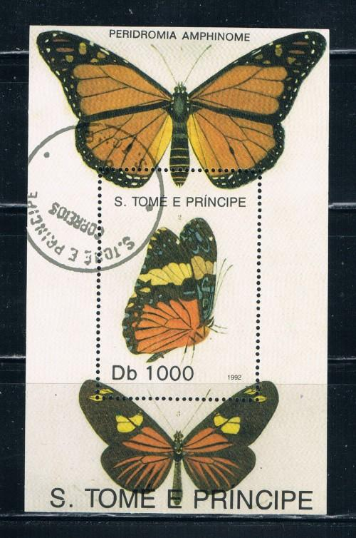 St Thomas and Prince Islands 1083 Souvenir Sheet Used Butterflies (S0154)