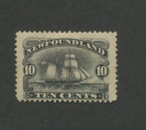 1894 Newfoundland Schooner Sailing Ship 10 Cents Postage Stamp #59
