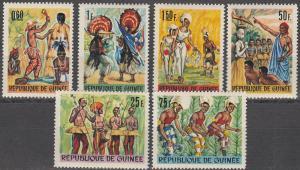 Guinea #436-41 MNH F-VF CV $3.85