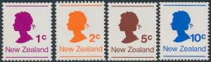 New Zealand 1978 Coil Stamps Set of 4 SG1170-1173 MNH