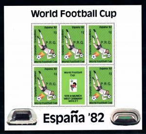 [60609] Grenada Grenadines 1982 World Cup Soccer with overprint P.R.G. MNH