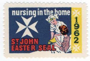 (I.B) New Zealand Cinderella : St John Ambulance Easter Seal (1962)