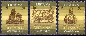 Lithuania. 1991. 486-88. 650 years to Prince Gediminas. MLH.